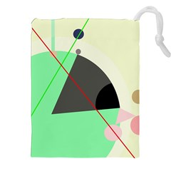 Decorative abstract design Drawstring Pouches (XXL)