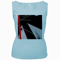 Artistic abstraction Women s Baby Blue Tank Top