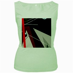 Artistic abstraction Women s Green Tank Top