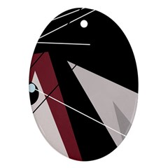 Artistic abstraction Oval Ornament (Two Sides)