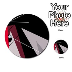 Artistic abstraction Multi-purpose Cards (Round)
