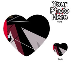 Artistic abstraction Multi-purpose Cards (Heart)