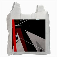 Artistic abstraction Recycle Bag (Two Side)