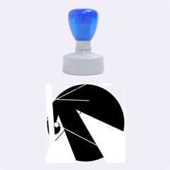 Artistic abstraction Rubber Round Stamps (Medium)