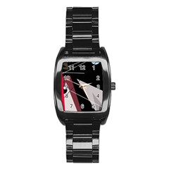 Artistic abstraction Stainless Steel Barrel Watch
