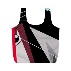 Artistic abstraction Full Print Recycle Bags (M)