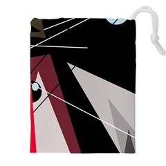 Artistic abstraction Drawstring Pouches (XXL)