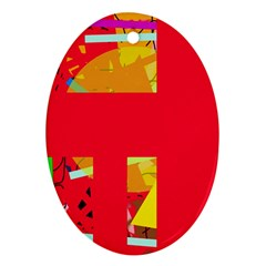 Red abstraction Ornament (Oval)