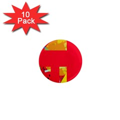 Red abstraction 1  Mini Magnet (10 pack)