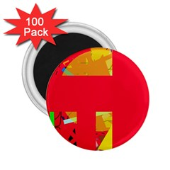 Red abstraction 2.25  Magnets (100 pack)