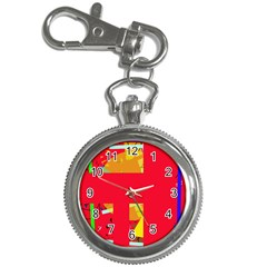Red abstraction Key Chain Watches