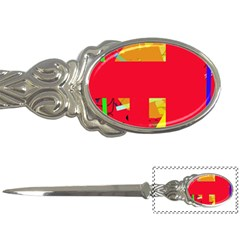 Red abstraction Letter Openers
