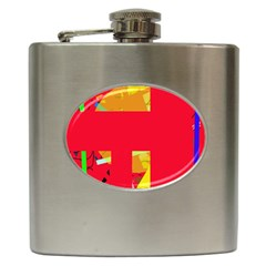 Red abstraction Hip Flask (6 oz)
