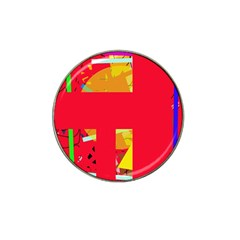 Red abstraction Hat Clip Ball Marker (4 pack)