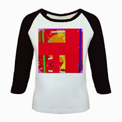 Red abstraction Kids Baseball Jerseys