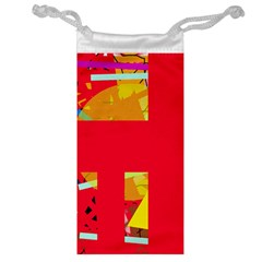 Red abstraction Jewelry Bags