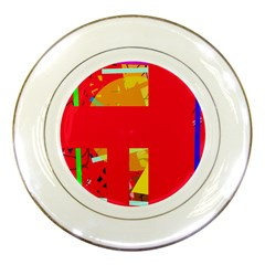 Red abstraction Porcelain Plates