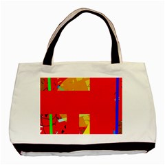Red abstraction Basic Tote Bag