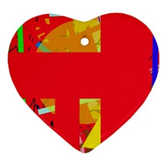 Red abstraction Heart Ornament (2 Sides)