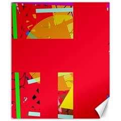 Red abstraction Canvas 8  x 10
