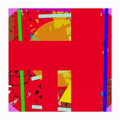 Red abstraction Medium Glasses Cloth