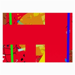 Red abstraction Large Glasses Cloth (2-Side)