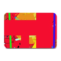 Red abstraction Plate Mats
