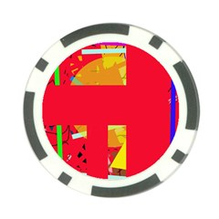 Red abstraction Poker Chip Card Guards