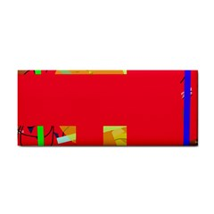 Red abstraction Hand Towel