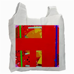 Red abstraction Recycle Bag (One Side)
