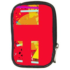Red abstraction Compact Camera Cases