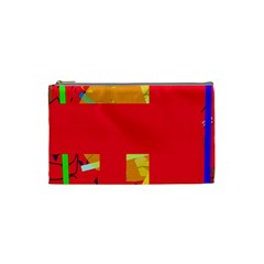 Red abstraction Cosmetic Bag (Small)