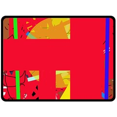 Red abstraction Fleece Blanket (Large)