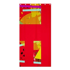 Red abstraction Shower Curtain 36  x 72  (Stall)