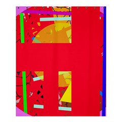 Red abstraction Shower Curtain 60  x 72  (Medium)