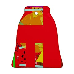 Red abstraction Bell Ornament (2 Sides)