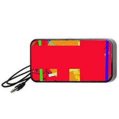 Red abstraction Portable Speaker (Black)