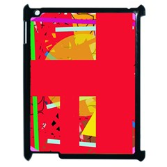 Red abstraction Apple iPad 2 Case (Black)