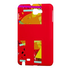 Red abstraction Samsung Galaxy Note 1 Hardshell Case