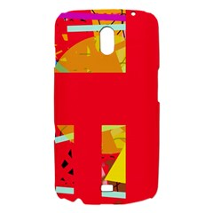 Red abstraction Samsung Galaxy Nexus i9250 Hardshell Case