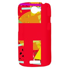 Red abstraction HTC One S Hardshell Case