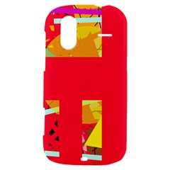 Red abstraction HTC Amaze 4G Hardshell Case