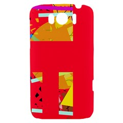 Red abstraction HTC Sensation XL Hardshell Case