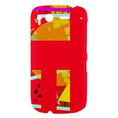 Red abstraction HTC Desire S Hardshell Case