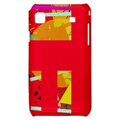 Red abstraction Samsung Galaxy S i9000 Hardshell Case