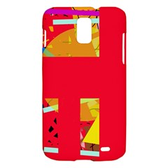 Red abstraction Samsung Galaxy S II Skyrocket Hardshell Case