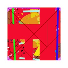 Red abstraction Acrylic Tangram Puzzle (6  x 6 )