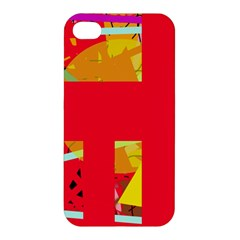 Red abstraction Apple iPhone 4/4S Premium Hardshell Case