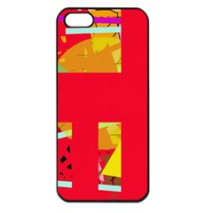 Red abstraction Apple iPhone 5 Seamless Case (Black)