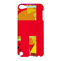 Red abstraction Apple iPod Touch 5 Hardshell Case